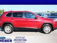 Deep Cherry Red Crystal 2015 Jeep Cherokee With Weber