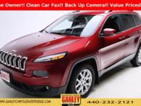 Jeep Cherokee Latitude 2015 CARFAX One-Owner. Back Up