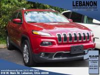 2015 Jeep Cherokee Limited Deep Cherry Red Crystal 4WD