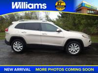 Options:  2015 Jeep Cherokee Limited|Beige|4Wd!