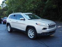 Recent Arrival! 2015 Jeep Cherokee Limited Certified.