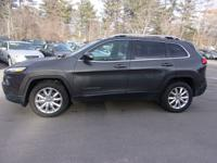 Gray 2015 jeep cherokee limited 4wd suv. Leather