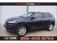 CARFAX One-Owner. Clean CARFAX. Blue 2015 Jeep Cherokee