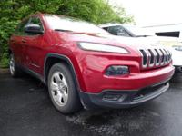 New Price! Certified. 2015 Jeep Cherokee Sport FWD 2.4L