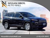 Black 2015 Jeep Cherokee Sport FWD 9-Speed 948TE