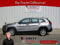 Recent Arrival! 2015 Jeep Cherokee Sport Silver 2.4L