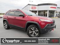 This 2015 Jeep Cherokee Trailhawk, has a great Deep