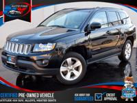 TAKE A LOOK AT THIS 2015 BLACK JEEP COMPASS LATITUDE