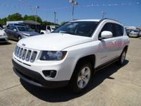 Clean CARFAX. Bright White Clearcoat 2015 Jeep Compass