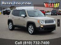 Clean CARFAX. Sand / Tan 2015 Jeep Renegade Limited FWD
