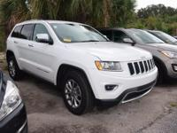Clean CARFAX. Bright White Clearcoat 2015 Jeep Grand