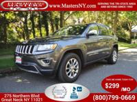 This Amazing Grey 2015 Jeep Grand Cherokee Limited AWD