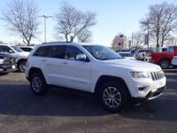 Options:  2015 Jeep Grand Cherokee Limited|White|Recent