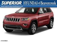 Recent Arrival! 2015 Jeep Grand Cherokee Limited Red