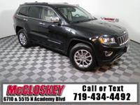 Eye-catching 2015 Jeep Grand Cherokee Limited w/ Power