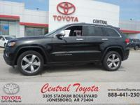 4WD. Clean CARFAX. Black 2015 Jeep Grand Cherokee