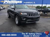 4WD. Black 2015 Jeep Grand Cherokee Limited 4WD 8-Speed