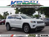 Bright White Clearcoat 2015 Jeep Grand Cherokee Limited
