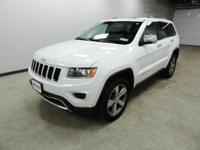 Options:  2015 Jeep Grand Cherokee Limited|White|4Wd.