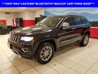 LEATHER, NAVIGATION, and SUNROOF. Grand Cherokee