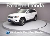 White 2015 Jeep Grand Cherokee Limited 4WD 8-Speed