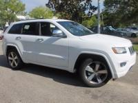 This 2015 Jeep Grand Cherokee Overland in Bright White