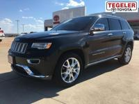 Black 2015 Jeep Grand Cherokee Summit RWD 8-Speed