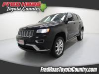 CARFAX One-Owner. Black 2015 Jeep Grand Cherokee Summit