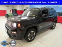 ONE OWNER, BACKUP CAM, BLUETOOTH, Renegade Latitude, 4D