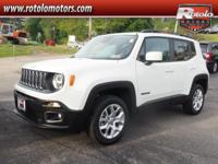 2015 Jeep Renegade Latitude  in Alpine White, CarFax