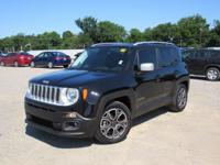 Black 2015 Jeep Renegade Limited FWD 9-Speed 948TE