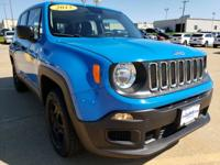 Sierra Blue 2015 Jeep Renegade Sport 4WD 9-Speed 948TE
