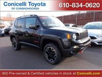 LOW MILES, This 2015 Jeep Renegade Trailhawk will sell