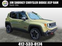 2015 Jeep Renegade Trailhawk New Price! Certified.