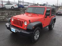2 Dr. Jeep Wrangler RUBICON 4x4. 3.8 Liter V6. 6 Speed