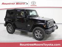 Clean CARFAX. Black Clearcoat 2015 Jeep Wrangler Sport