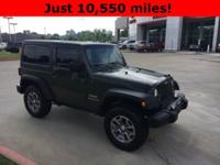 2015 Jeep Wrangler in Green exterior and Gray interior,