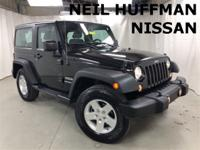 New Price! Black Clearcoat 2015 Jeep Wrangler Sport 4WD