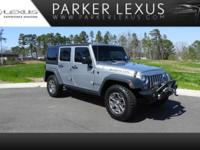 Jeep Rubicon Unlimited 4x4 with clean Carfax! Bluetooth
