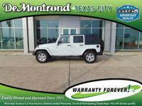 CARFAX One-Owner. 2015 Jeep Wrangler White New Price!