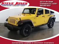 Yellow 2015 Jeep Wrangler Unlimited Sport 4WD 5-Speed