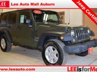 2015 Jeep Wrangler Unlimited Sport Green Bluetooth,