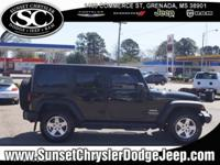 New Price! Black 2015 Jeep Wrangler Unlimited Sport 4WD