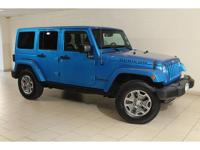 2015 Jeep Wrangler Unlimited Rubicon in Hydro Blue and