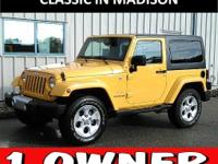 This one owner, 2015 Jeep Wrangler has front and rear
