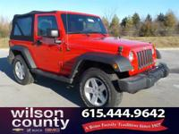 2015 Jeep Wrangler Sport 3.6L V6 24V VVT Red Clean