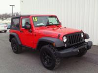 ONE OWNER!! 2015 JEEP WRANGLER SPORT...Willy's