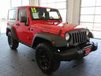 Options:  2015 Jeep Wrangler Sport|Red|**Clean Carfax**