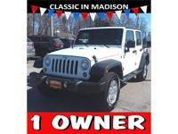 Hard top! This one owner, 2015 Jeep Wrangler has