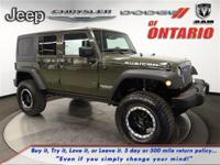 Options:  2015 Jeep Wrangler Unlimited Rubicon|Tank